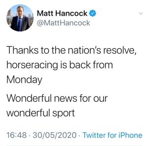 Hancock horseracing